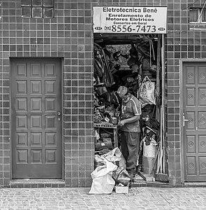 Worker in São Paulo city