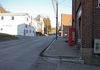 Worthington, West Virginia - Main Street (Route 19) in Worthington in 2006