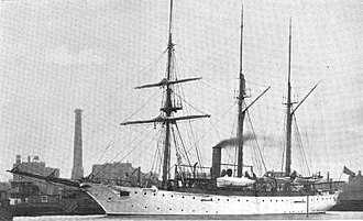 USS Annapolis (PG-10) - The Annapolis, photographed by William H. Rau, circa 1898