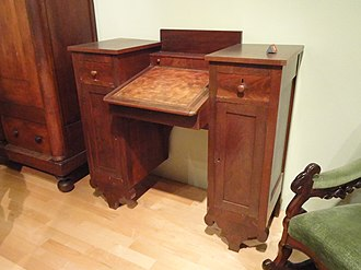 Thomas Day (North Carolina) - Writing Desk, c. 1840-1850 - North Carolina Museum of History