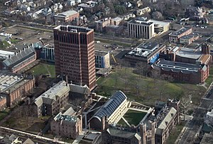 Yale School of Forestry & Environmental Studies - The School of Forestry's main buildings, bottom center, on Science Hill