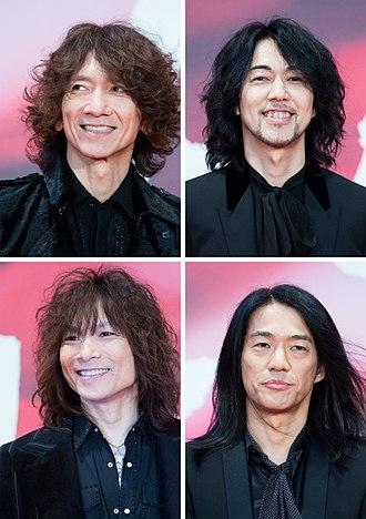 The Yellow Monkey - The Yellow Monkey at the Tokyo International Film Festival on October 25, 2017. Clockwise, from top left: Kazuya Yoshii, Hideaki Kikuchi, Eiji Kikuchi, Yoichi Hirose
