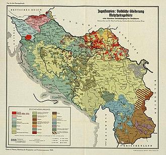 Banovina of Croatia - Image: Yugoslavia Ethnic 1940