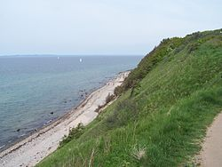 The north coast of Zealand. Viewed from Gilleleje in Gribskov Municipality.