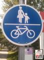Zeichen 244 - Gemeinsamer Fuß- und Radweg, 1972.png