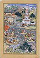 """Alexander Fights a Sea Battle"", Folio from a Khamsa (Quintet) of Amir Khusrau Dihlavi MET DT4796.jpg"