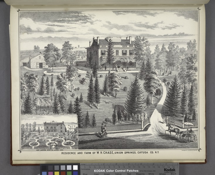 """File:""""Residence and Farm of W.H. Chase, Union Springs, Cayuga Co. N.Y."""" NYPL1583083.tiff"""