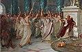 'Julius Caesar', Act III, Scene 1, the Assassination William Holmes Sullivan (1836–1908) Royal Shakespeare Theatre.jpg