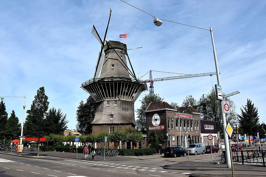 Moulin du Brouwerij t'Ij à Amsterdam. 'Molen De Gooyer' Funenkade Amsterdam