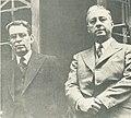 'Pepe' Vives junto al entonces presidente Eduardo Santos. .jpg