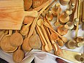 (( street sales in Quito, hand carved wooden products, wooden spoons cutting boards made of solid wood hand made)).jpg