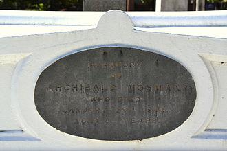 Archibald Mosman - Archibald Mosman grave