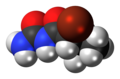 (S)-Bromisoval molecule spacefill.png