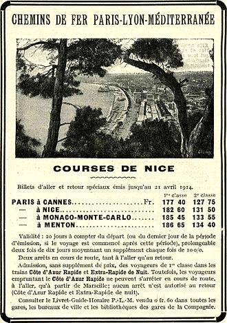 Chemins de fer de Paris à Lyon et à la Méditerranée - 1914 advertisement Le Miroir
