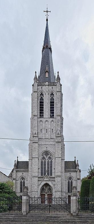 Marchienne-au-Pont - Image: Église de la Sainte Vierge à Marchienne au Pont, Charleroi (DSCF7723 DSCF7725)