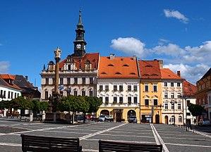 Česká Lípa - Česká Lípa city hall on T. G. Masaryk square