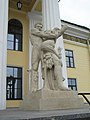 Геракл и Антей(статуя у Горного института)03.jpg