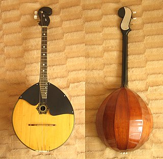 Domra long-necked Russian, Belarusian and Ukrainian folk string instrument of the lute family