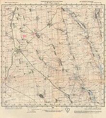 Километровая карта поселка Раздельная 1933 г.