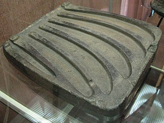Yekaterinburg - Casting mold that can hold 5 sickles, dating back to the Bronze Age