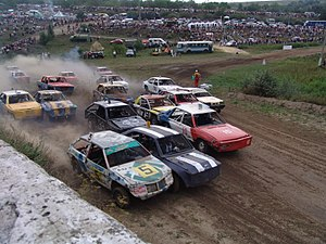 Banger racing - Banger racing in Oleksandriia, Ukraine