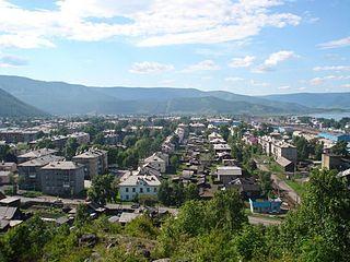 Slyudyanka Town in Irkutsk Oblast, Russia