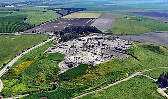 Tel Megiddo - Aerial view of Tel Megiddo