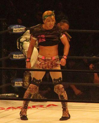 Exótico - Yosuke♥Santa Maria, a Japanese exótico. Santa Maria adopted the persona when she (Santa Maria uses feminine pronouns) joined the Millennials, a group with a lucha libre style.