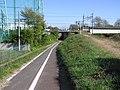 高崎線の下をくぐる - panoramio.jpg