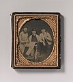 -Three Carpenters, Standing, Holding a Ruler, Hammer, and Sheet of Paper- MET DP700275.jpg