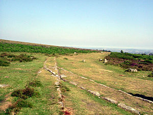 Haytor Granite Tramway - A section of the track as it appeared in 2005