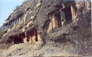 Pandavleni Caves - Additional caves under the visitor's path at Pandavleni.