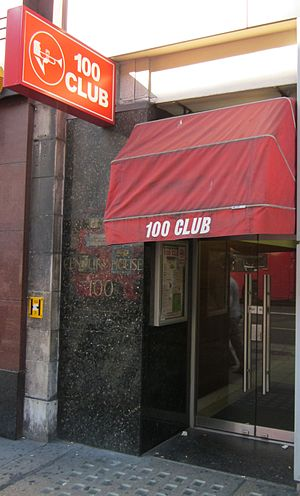 Doorway of the 100 Club at 100 Oxford Street, ...