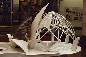 Lotus Temple - Model of the temple at the information centre