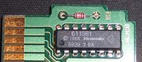 The 10NES authentication chip contributed to the system's reliability issues. The circuit was ultimately removed from the remodelled NES 2.