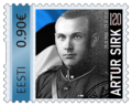 120 years since the birth of Artur Sirk Commemorative stamp Estonia Oma Mark 2020.png
