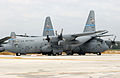 166th Airlift Wing C-130 Hercules damage from September 2004 tornado.jpg