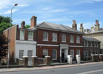 Montpelier, Brighton - Montpelier Lodge was unusual in its use of red brickwork.