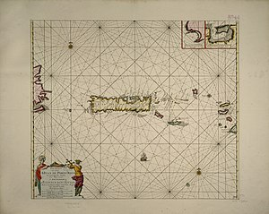 Captaincy General of Puerto Rico - Image: 1712 Porto Rico map by Johannes van Keulen BPL m 8719