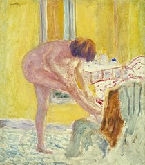 Nude, Yellow Background