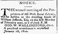 1810 WellsSocialLibrary Kennebunk Maine WeeklyVisitor Feb3.png
