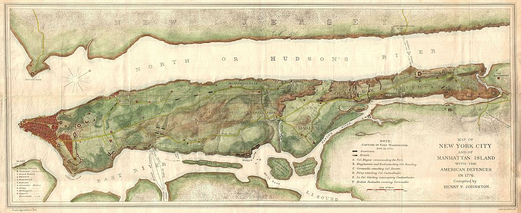 File1878 Bien and Johnson Map of New York City Manhattan Island