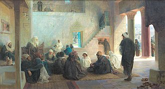 Vasily Polenov - Christ among the Doctors (1896)