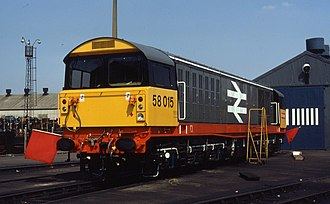 Railfreight - Image: 19.08.84 Doncaster Works 58015 (6110207038)