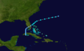 1909 Atlantic tropical storm 10 track.png