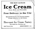 1910 Ice Cream Factory advert Texas Avenue in Shreveport Louisiana.png