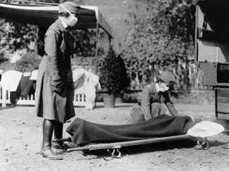 """Θύματα της """"Ισπανική γρίππης"""" του 1918"""