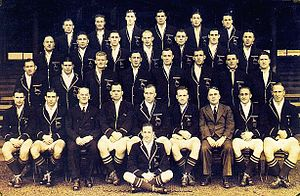 South Africa national rugby union team - The complete squad that toured New Zealand and Australia in 1937.
