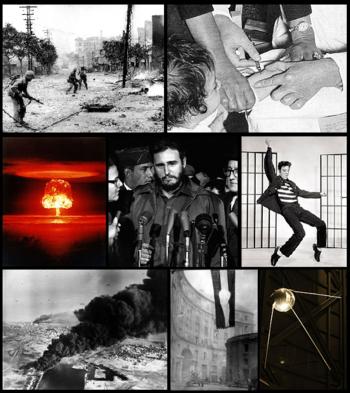 Wichtige Ereignisse der 1950er in einer Bildmontage