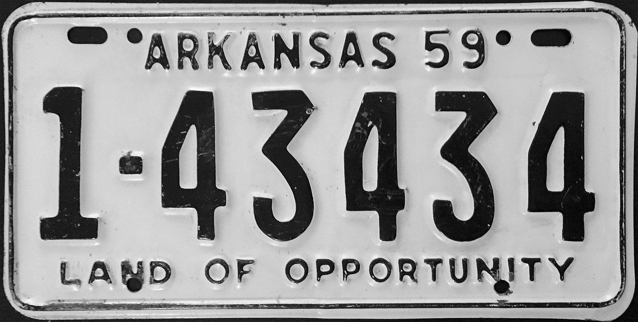 Vehicle Registration Plates Of The United States For 1959